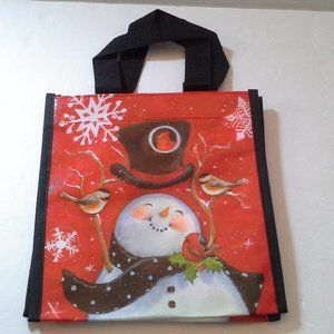 Lock and Lock Snowman and Birds Lunch Tote Bag